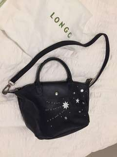 Longchamp Le Pliage Cuir Etoile Star Leather Bag