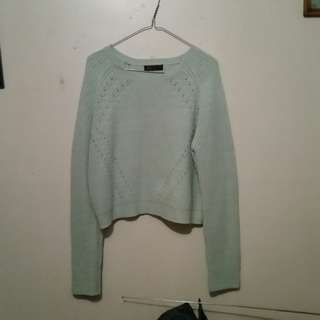 Mint Green Crop Jumper/Pullover