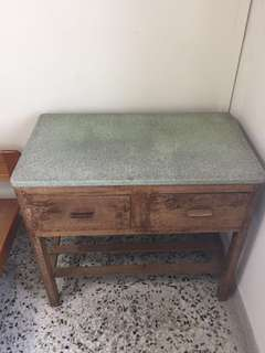 Table with Granite top and drawers