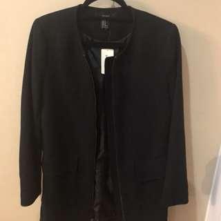 Black coat with pockets