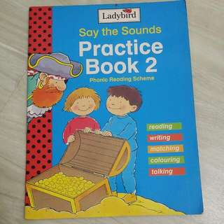 Say The sounds Practice Book 2 Phonic reading Scheme Ladybird