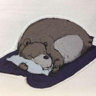 [可愛貼紙]體育課熊/抱枕熊