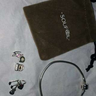 Soufeel bracelet and pandora charms