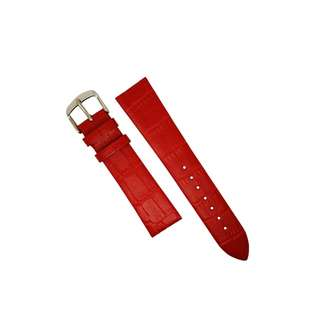Genuine Croc Pattern Leather Watch Strap in Red