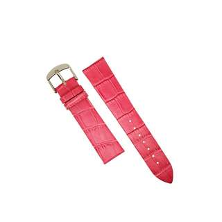 Genuine Croc Pattern Leather Watch Strap in Rose