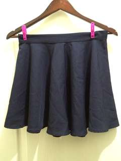 Navy blue skater skirt