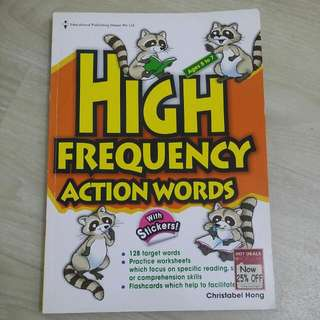 High Frequency Action Words With Stickers