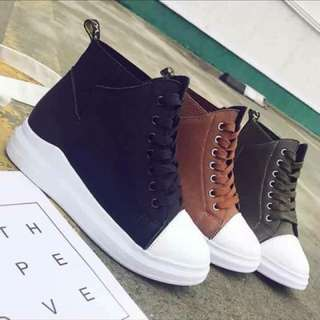 High cut Shoes.