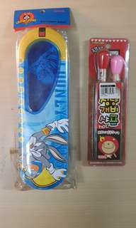 Looney Tunes Bugs Bunny Pencil Case And Mechanical Pencil