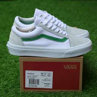 Vans old school white green