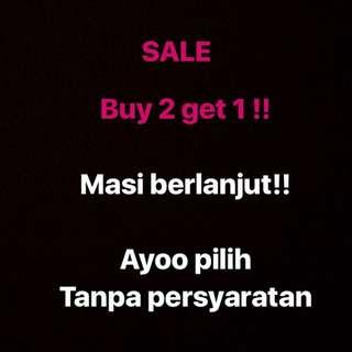 Buy2get1 promo pakaian