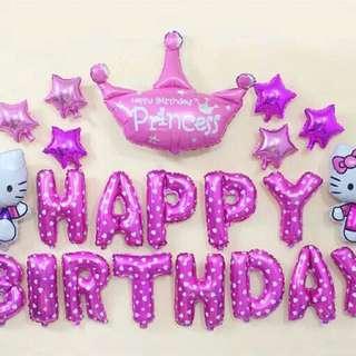 Happy Birthday Balloons Kids Party decoration