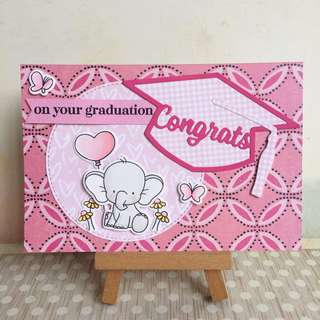 Handmade graduation card 1801 - congrats on your graduation