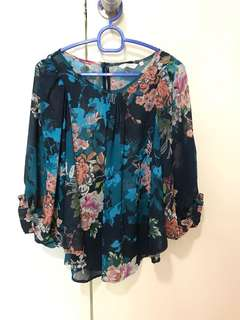 NewLook Sheer Floral Blouse