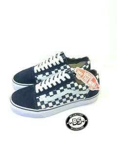 Vans oldskool checkerboard navy/white