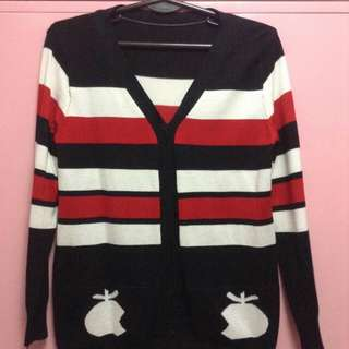 Striped Apple Cardigan