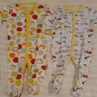 Sleepsuits 2 pcs