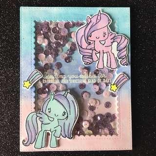 Ponies Burgas shaker card