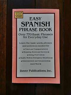 Easy Spanish Phrase Book: Over 770 Basic Phrases For Everyday Use Book