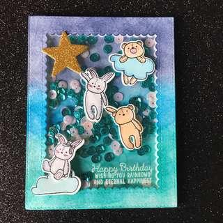 Little critters birthday shaker card