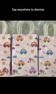 Cute children birthday party goody bag 🚗