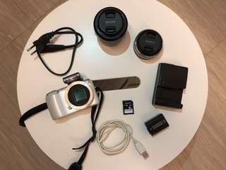 Sony NEX-C3, White, Two Lens