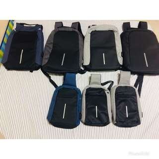 Anti theft backpack and body bag(iwas nakaw bag)