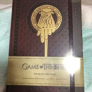 Game of Thrones Hand of the King notebook