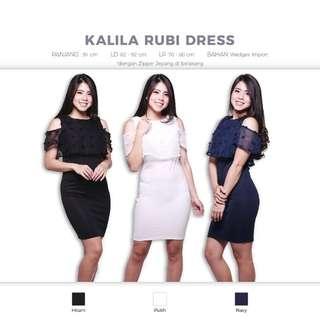 Kalila Rubi Dress (Baju Rok Shoulder Off Sabrina Top)