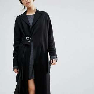 Asos Duster Coat With Split Size Small