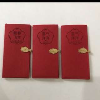 3 Pieces Of Red Packet Holders