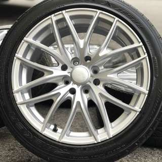 Rays G27 16 inch sports rim vios tyre 70%. Basuh kain guna cuka, brother ini rim confirm you sukaaaaa!!!
