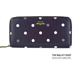 polka long wallet