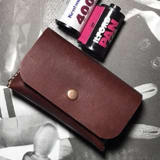 Leather film pouch 35mm