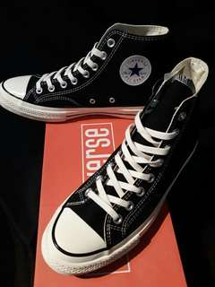 CONVERSE ALLSTAR CHUCK TAYLOR 1970s Hi n Low Black White . 36 - 44 . Hi Low.  . PREMIUM GOOD QUALITY