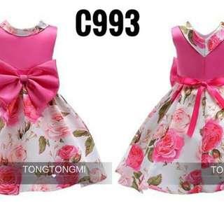 C993 Dress TTM Pink Rok Bunga