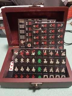 Mini Black Mahjong Set from Hongkong