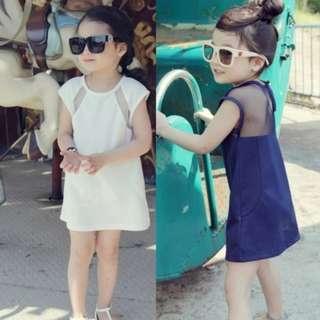 BMT387 - Girl Elegant Sleeveless Dress *Polyester*