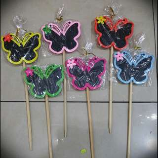 Blackboard / Message board on stick (Butterfly)