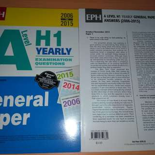 H1 A level General Paper TYS
