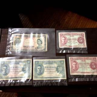 Amik mai la, old bank notes, mix country