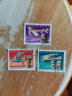 匈牙利郵票 航空飛機已銷郵票一套三全