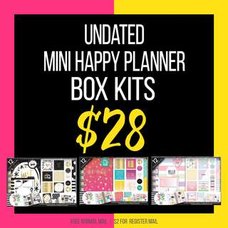 Mini Happy Planner Box Kits