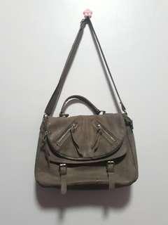 Parisian Leather Messenger Bag