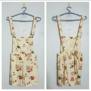 Ivory patterned dungaree