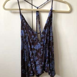 Deep Colored Floral Tank size SMALL