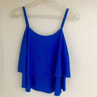 Blue sleeveless top