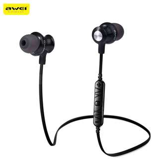 Wireless Earphones Sports Bluetooth 4.0 with Handsfree Songs Track Function - Black - (Retail Price $79.90)