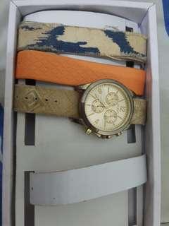 Aldo multi straps watch