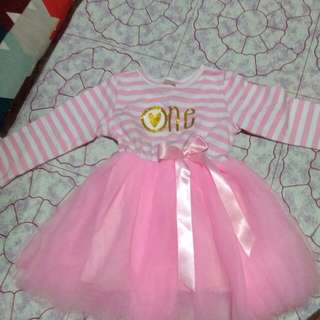 1st Birthday Pink Gown